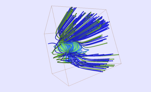 Image of vector flow captured using TVS2